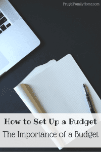 The Importance of a Budget