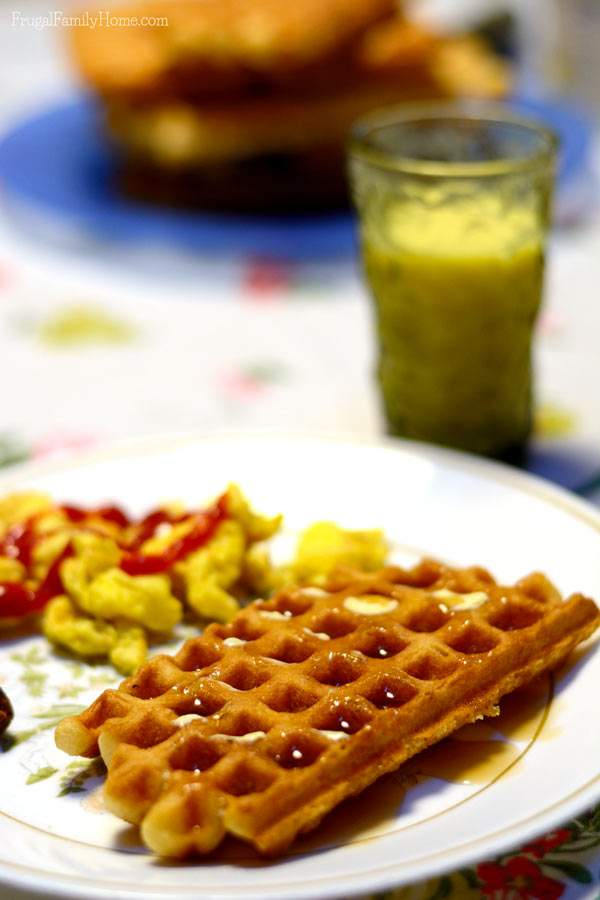 You don't have to purchase freezer waffles at the store. Make them yourself with this recipe. It's freezer friendly and so good.