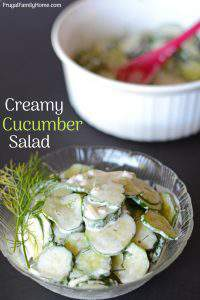 The Best Creamy Cucumber and Dill Salad