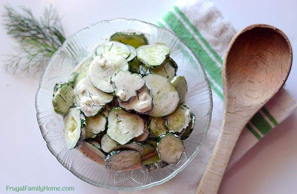 I love to have a creamy and cool salad in the summer. What could be cooler than a simple and easy cucumber salad? This is the best cucumber salad recipe. It contains simple ingredients and is really easy to make too. The sour cream in this recipe makes a creamy cucumber salad that you can't resist. This recipe is our favorite, tried, and true recipe for cucumber salad.