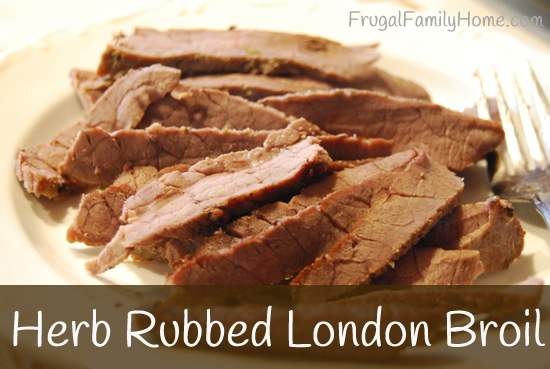 Herb Rubbed London Broil