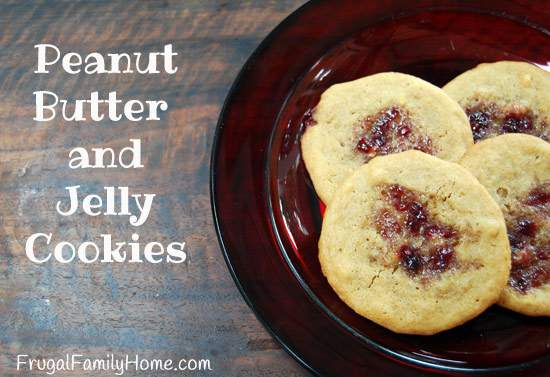 Homemade Sweet Treats, Peanut Butter and Jelly Cookies