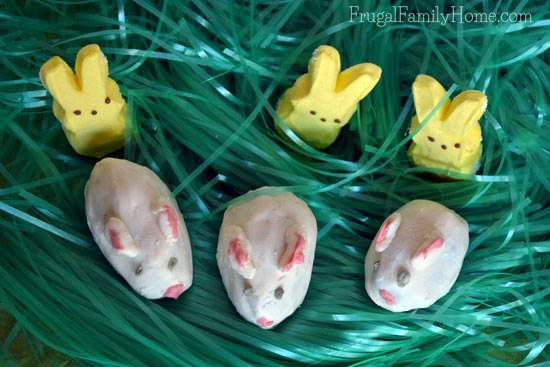 Bunny Truffles made from brownies, great for Easter baskets