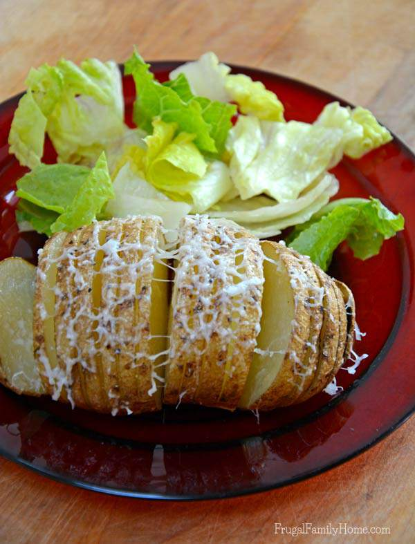 Microwave Hasselback Potatoes