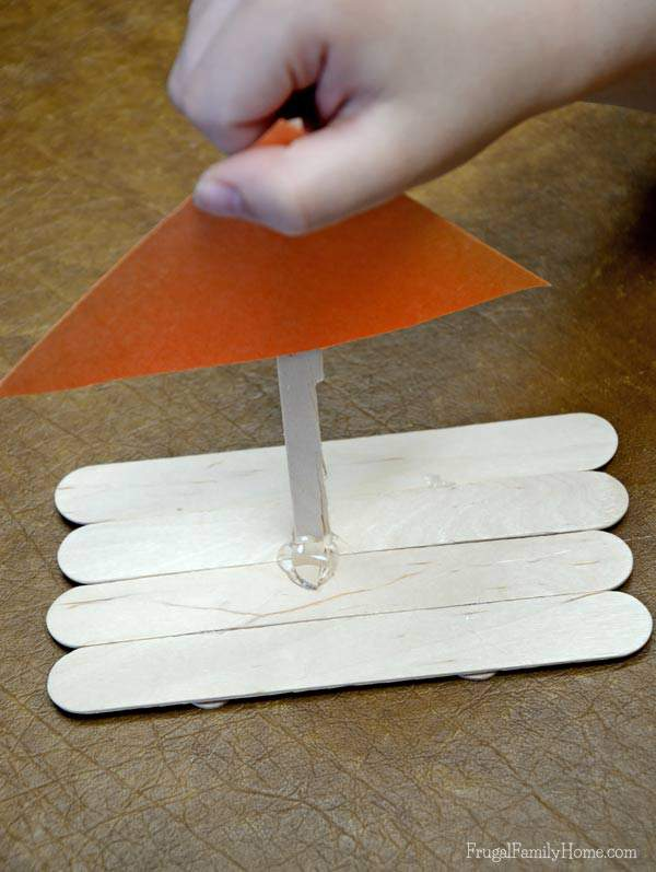 Kid's Craft, Popsicle Stick Rafts
