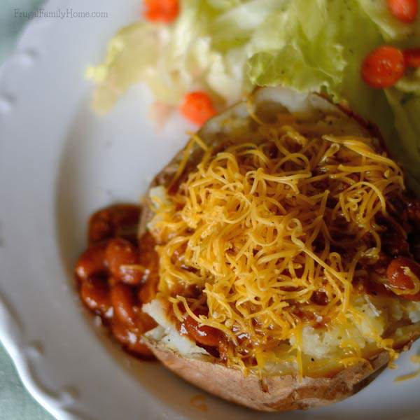 Simple Meal, Chili Baked Potato Bar