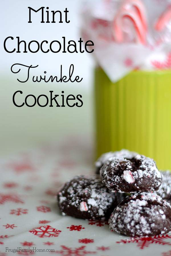 Chocolate Mint Twinkle cookies | Frugal Family Home