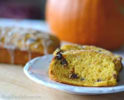Maple Glazed Chocolate Chip Pumpkin Bread