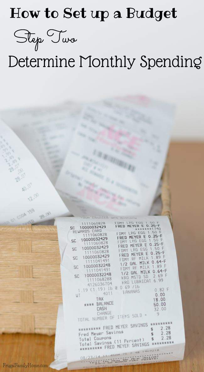 Knowing how much you are spending beyond your monthly bills is a must for an accurate budget. So it's time to gather up all of those receipts.