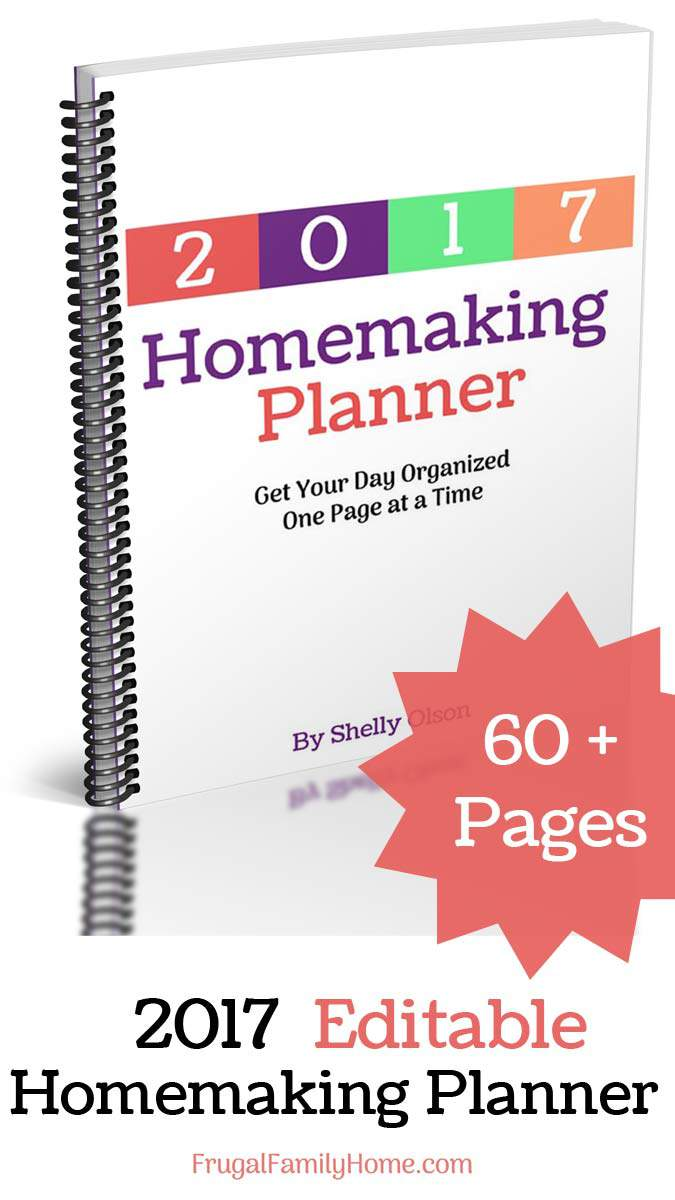 Need a new planner for the new year? Come check out my new 2017 printable homemaking planner. It has 60+ pages and can be customized too.