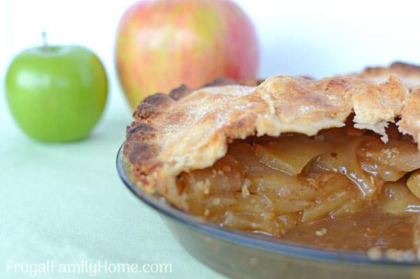 Apple pie filling for the freezer. This is an easy homemade recipe for apple pie filling. It's so quick and easy, you don't need to cook the filling at all. Just 4 ingredients and a few minutes and you can have apple pie filling ready for the freezer. This recipe tastes great and freezes very nicely.