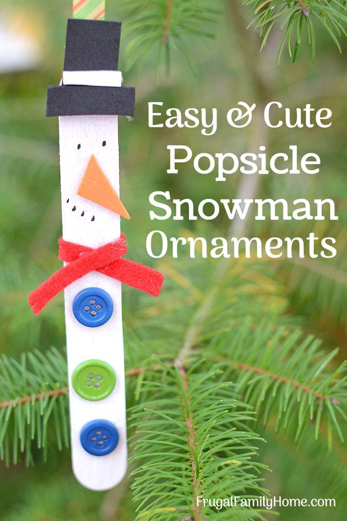 Easy Snowman Ornament Craft