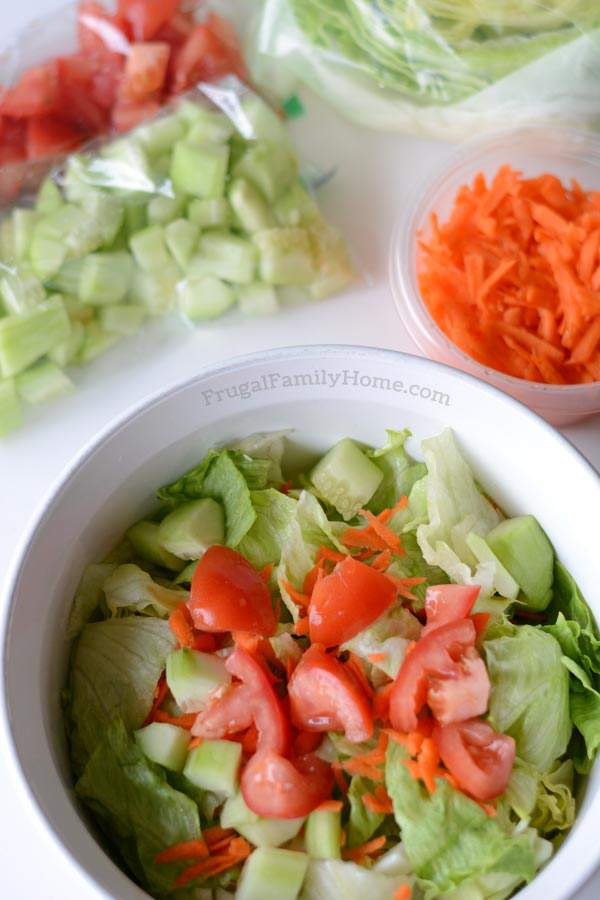 How to prep salad so you can enjoy salad all week long without it becoming soggy. It's easy to do and only takes a few minutes.